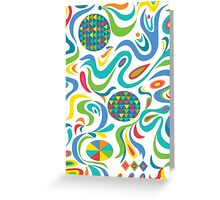Cartwheel white Greeting Card