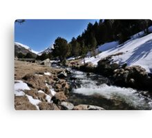 Snowy River Andorra La Vella Canvas Print