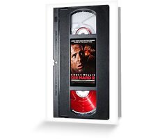 Die hard 2 vhs iphone-case Greeting Card