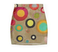 A few colorful vintage circles Mini Skirt