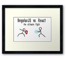 AngularJS vs React Framed Print