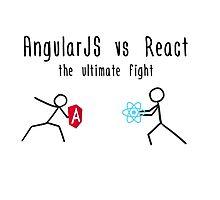 AngularJS vs React Photographic Print