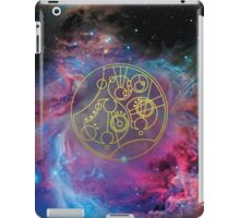 'Gallifrey Falls No More.' in Gallifreyan - Gold (bright nebula background) iPad Case/Skin