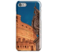 Blue hours at Castel Sant'Angelo iPhone Case/Skin
