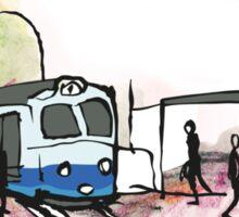 Tram stop in Göteborg - Sweden Sticker