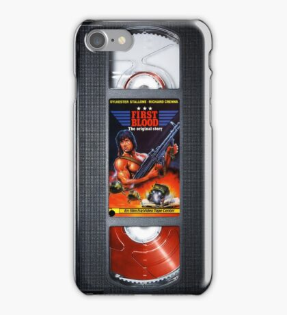 Rambo vhs iphone-case iPhone Case/Skin