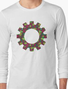 Psychedelic Circles Red & Green Long Sleeve T-Shirt