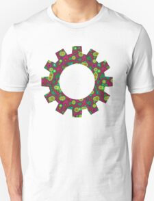 Psychedelic Circles Red & Green Unisex T-Shirt