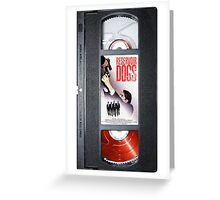 Reservoir Dogs vhs iphone-case Greeting Card
