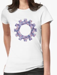 Psychedelic Circles Lavender & Rose Womens Fitted T-Shirt