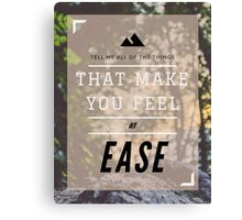 """EASE"" by Troye Sivan Canvas Print"
