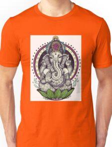 Ganesh and Lotus Flower Unisex T-Shirt