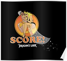Dragons Lair - Dirk & Daphne Orange White Text Variant Poster