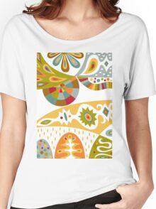 Bohemian white Women's Relaxed Fit T-Shirt