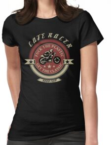 Cafe Racer Motorcycle T shirt - Fuck The Plastic Get The Classic t shirt Womens Fitted T-Shirt