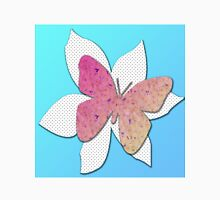 Butterfly with Flowers on a Flower Unisex T-Shirt