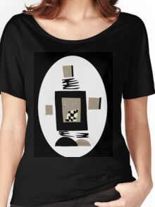 Life Is Black And White When A Robot Women's Relaxed Fit T-Shirt