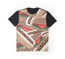 Hot Dogs And Hamburgers Graphic T-Shirt