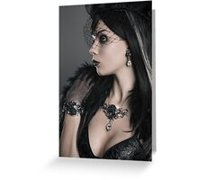 Bacchanal Rose Gothic Portrait Greeting Card