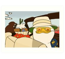 Fear and Loathing in Las Vegas - Dolan and Gooby  Art Print