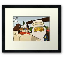 Fear and Loathing in Las Vegas - Dolan and Gooby  Framed Print