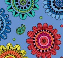 Flowers of Desire blue Sticker