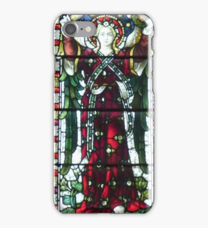 Stained Glass - Lady in Red iPhone Case/Skin