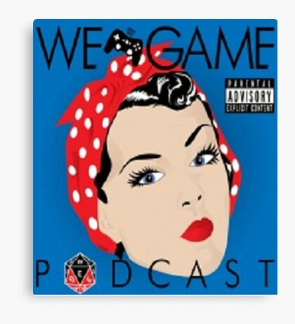 We Game Podcast Canvas Print