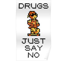 Wally Says No to Drugs Poster