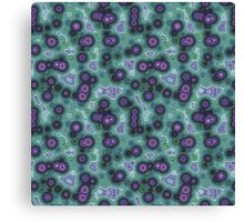 Psychedelic Circles Sage Green & Purple Canvas Print