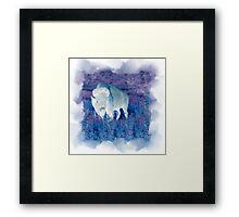 The Great White Buffalo Framed Print