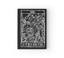 Strength Tarot Card Print Hardcover Journal