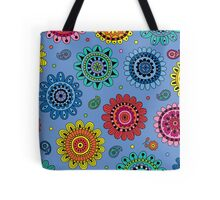 Flowers of Desire blue Tote Bag