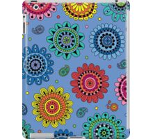 Flowers of Desire blue iPad Case/Skin