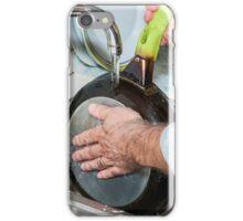man washing dishes iPhone Case/Skin