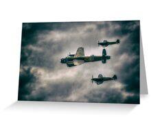 BBMF Spitfire Escort Greeting Card