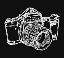 Pentax 6X7 Medium Format Camera WHITE INK by strayfoto