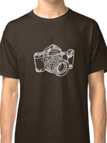 Pentax 6X7 Medium Format Camera WHITE INK Classic T-Shirt