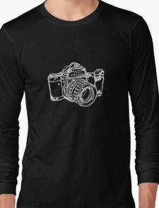 Pentax 6X7 Medium Format Camera WHITE INK Long Sleeve T-Shirt