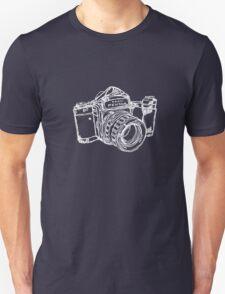 Pentax 6X7 Medium Format Camera WHITE INK Unisex T-Shirt