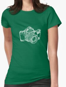 Pentax 6X7 Medium Format Camera WHITE INK Womens Fitted T-Shirt