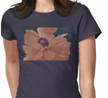 Color Theory, complimentary colors, poppy damask floral Womens Fitted T-Shirt