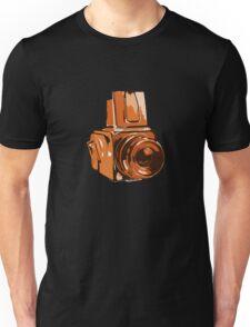 Medium Format 6x6 Camera Design in Orange Unisex T-Shirt