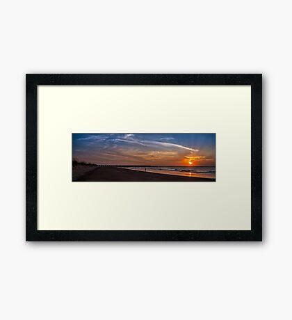 Fort Clinch Pier Sunrise Framed Print