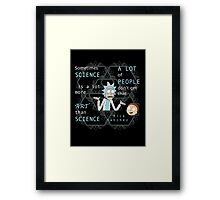 Rick on Science Framed Print