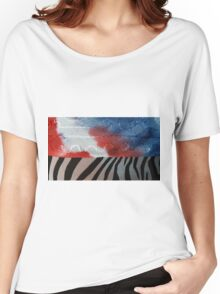 Red White Blue  Women's Relaxed Fit T-Shirt