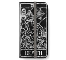 Death Tarot Card Print  iPhone Wallet/Case/Skin