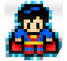 Superman Pixel Poster