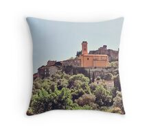 House on a hill Italy Throw Pillow