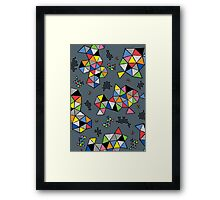 Edgewise grey Framed Print